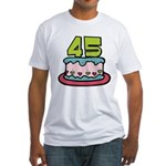 45 Year Old Birthday Cake Fitted T-Shirt