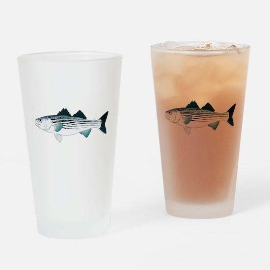 Striped Bass v2 Drinking Glass