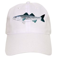 Striped Bass v2 Baseball Baseball Cap