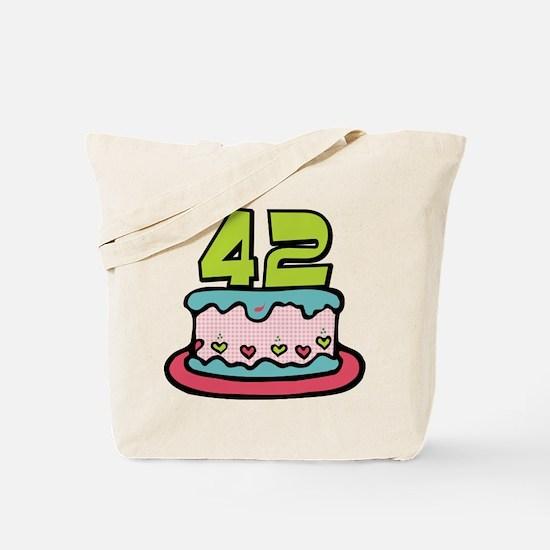 42 Year Old Birthday Cake Tote Bag