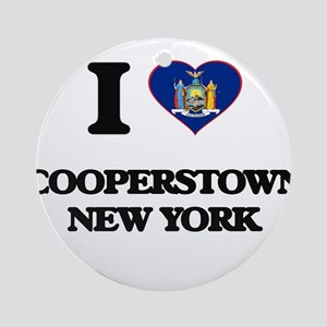 I love Cooperstown New York Ornament (Round)