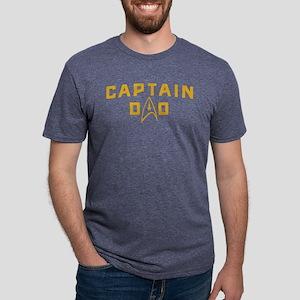 Star Trek Captain Dad Mens Tri-blend T-Shirt