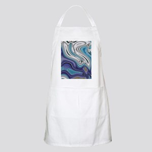abstract blue marble swirls Apron