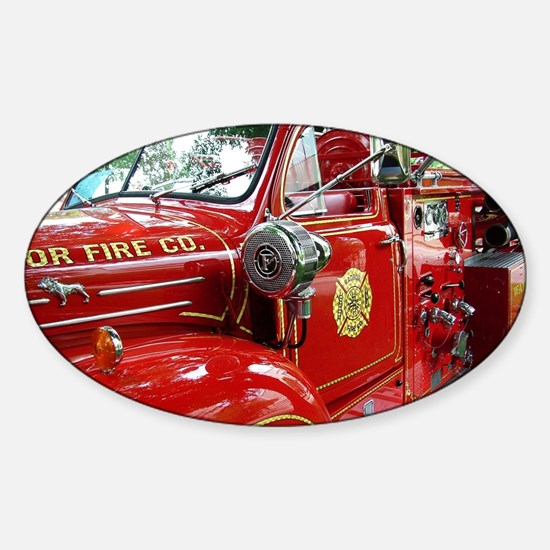 red fire engine 1 Decal
