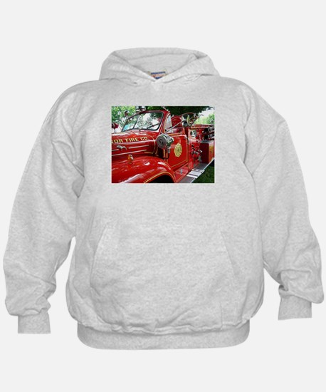 red fire engine 1 Hoodie