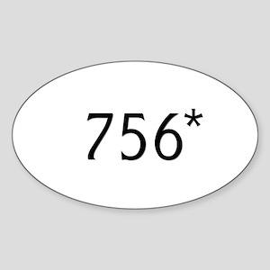 Bonds hits 756* - Oval Sticker