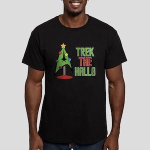 Trek The Halls Men's Fitted T-Shirt (dark)