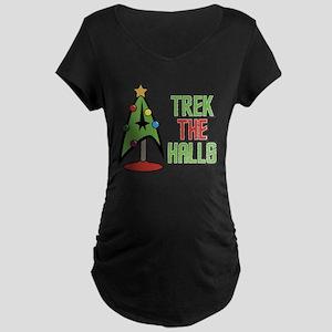 Trek The Halls Maternity Dark T-Shirt