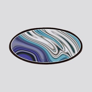 abstract blue marble swirls Patch