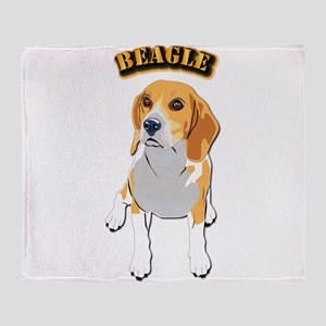 Beagle Dog with Text Throw Blanket