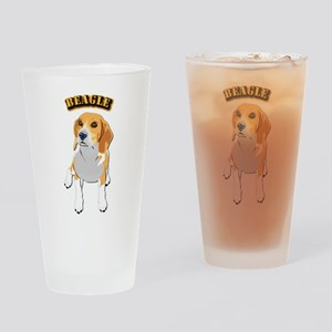 Beagle Dog with Text Drinking Glass