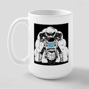 Burn Out Silver Large Mug