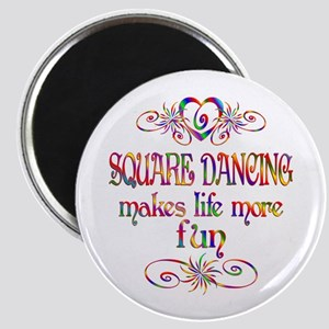 Square Dancing More Fun Magnet