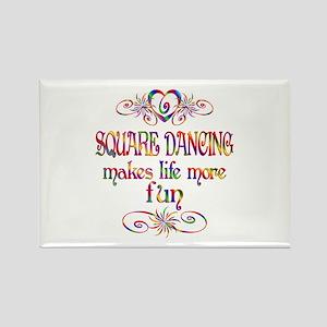 Square Dancing More Fun Rectangle Magnet