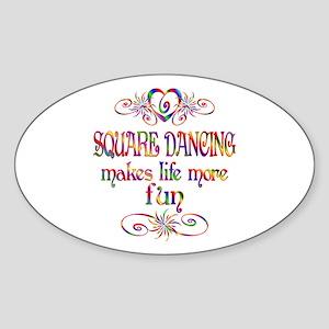 Square Dancing More Fun Sticker (Oval)