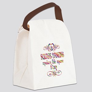 Square Dancing More Fun Canvas Lunch Bag
