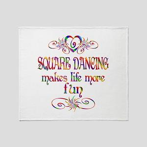 Square Dancing More Fun Throw Blanket