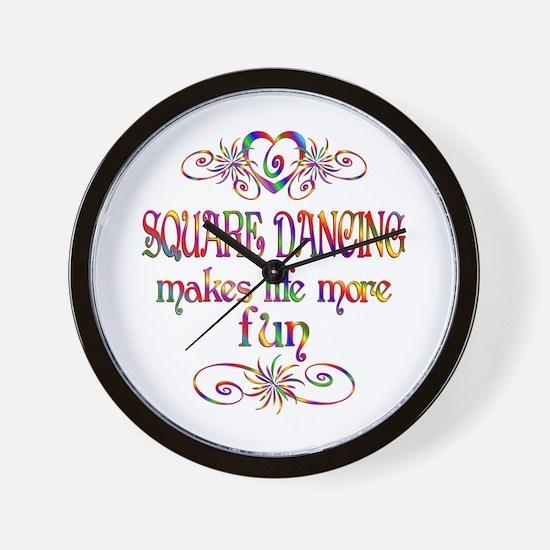 Square Dancing More Fun Wall Clock
