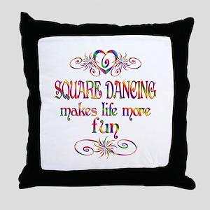Square Dancing More Fun Throw Pillow
