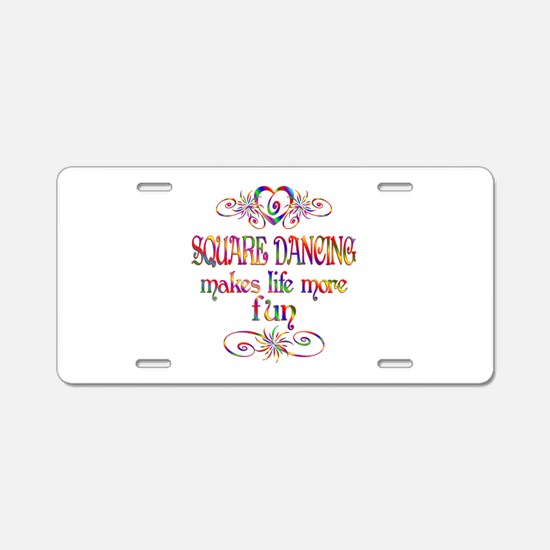 Square Dancing More Fun Aluminum License Plate