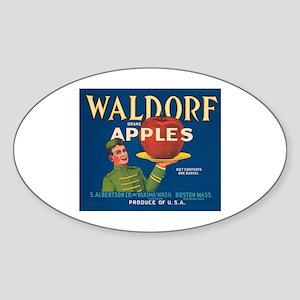 Waldorf Apples Oval Sticker