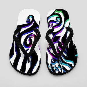 ff2e0ec63483 Blue White Striped Flip Flops - CafePress