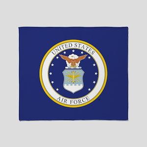 U.S. Air Force Emblem Throw Blanket