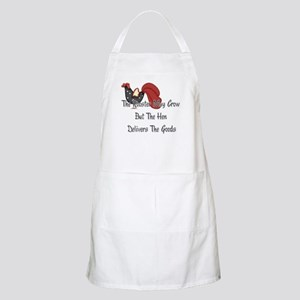 The Rooster May Crow... BBQ Apron