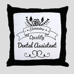 Genuine Quality Dental Assistant Throw Pillow