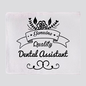 Genuine Quality Dental Assistant Throw Blanket