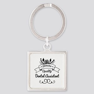 Genuine Quality Dental Assistant Square Keychain