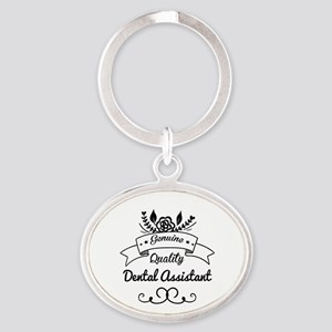 Genuine Quality Dental Assistant Oval Keychain