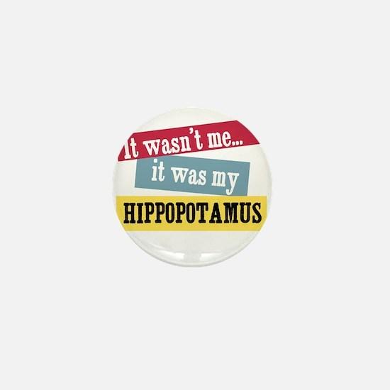 Hippopotamus Mini Button