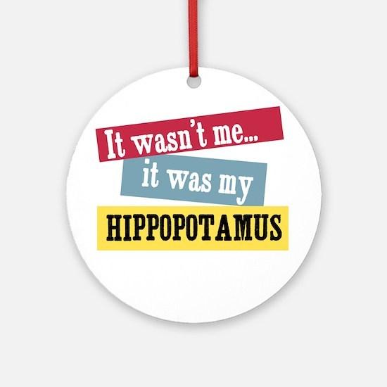 Hippopotamus Ornament (Round)