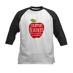 I Support Teachers Kids Baseball Jersey
