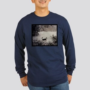 KITTY'S FIRST SNOW Long Sleeve Dark T-Shirt