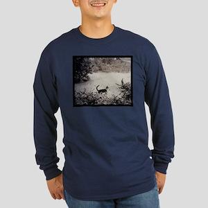 KITTY'S FIRST SNOW Long Sleeve Dark T-Shirt
