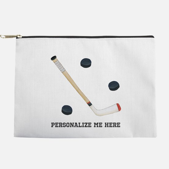 Personalized Hockey Makeup Pouch