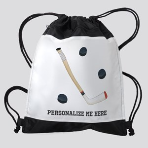 Personalized Hockey Drawstring Bag