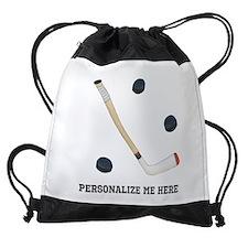 Personalized Hockey Drawstring Bag