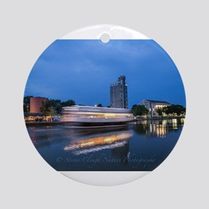 Colonial Belle on the Erie Canal Round Ornament