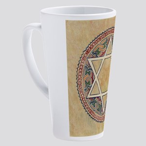 STAR OF DAVID 17 oz Latte Mug