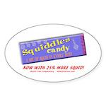 Squiddles Oval Sticker