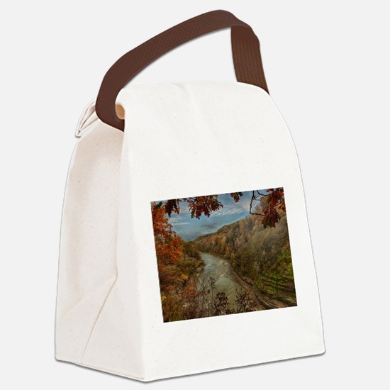 Letchworth State Park Canvas Lunch Bag