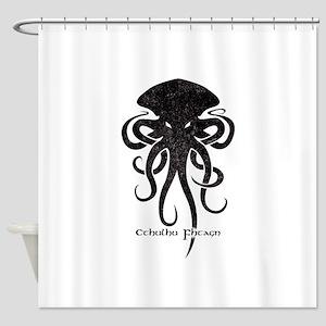 Cthulhu Dark Shower Curtain