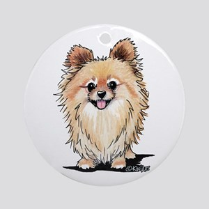 KiniArt Bella Pom Round Ornament
