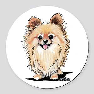 KiniArt Bella Pom Round Car Magnet