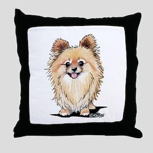 KiniArt Bella Pom Throw Pillow