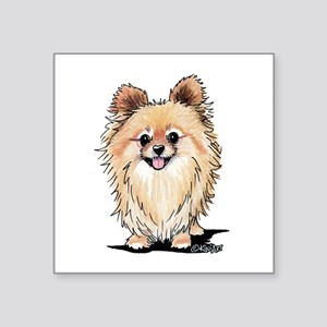 "KiniArt Bella Pom Square Sticker 3"" x 3"""