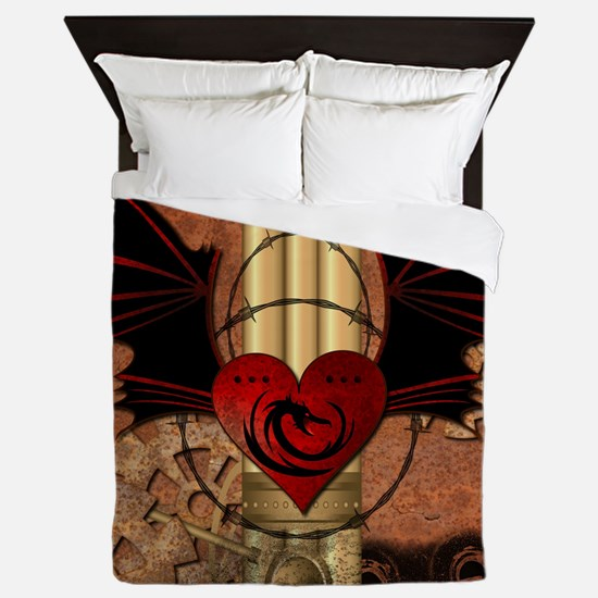 Heart with dragon Queen Duvet